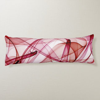 flame art red-white body pillow