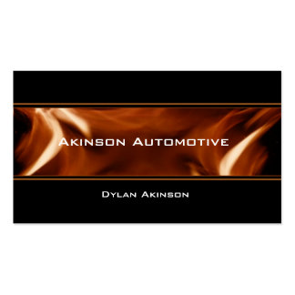 Flame Banner Business Card