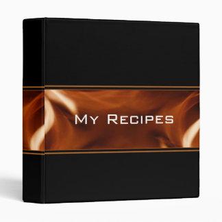 Flame Banner Recipe Book Binders