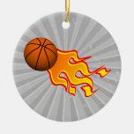 flame basketball christmas ornaments