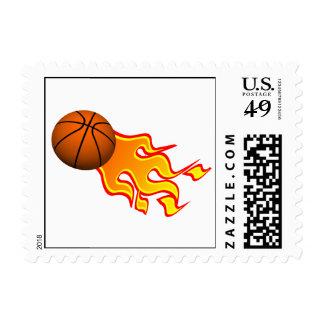 flame basketball postage
