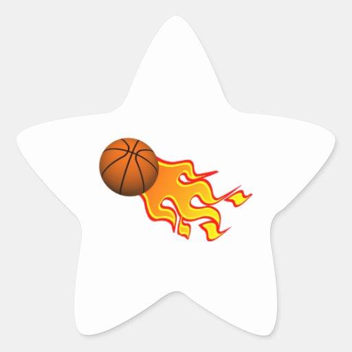 flame basketball star sticker