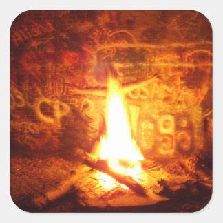 Flame Boy Sticker