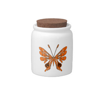 Flame Butterfly Tattoo Candy Jar