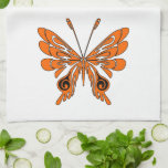 Flame Butterfly Tattoo Kitchen Towel