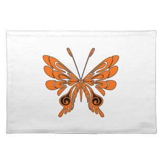 Flame Butterfly Tattoo Place Mats