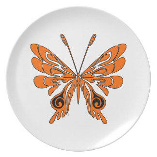 Flame Butterfly Tattoo Plate