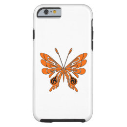 Flame Butterfly Tattoo Tough iPhone 6 Case