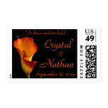 Flame Calla Lily Wedding Postage Stamps