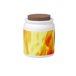 Flame Candy Jar