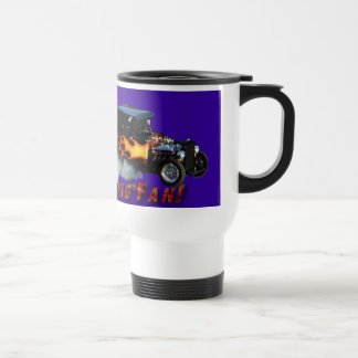 Flame Car Drag-Racing Fan Travel Mug