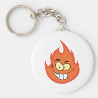 Flame Cartoon Character Keychain