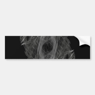 Flame Circle 3 Abstract Digital Black Backgrounds Car Bumper Sticker
