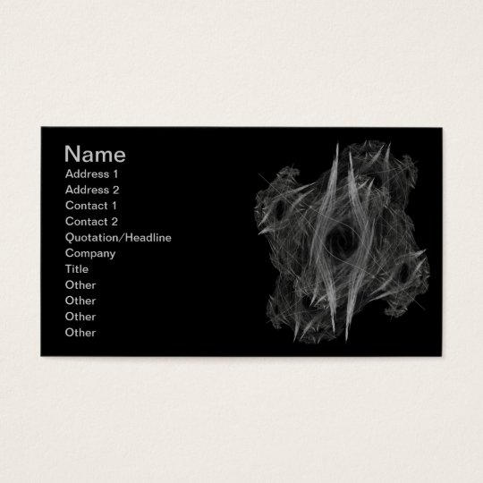 Flame Circle 3 Abstract Digital Black Backgrounds Business Card
