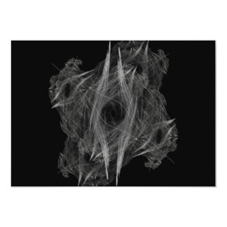 """Flame Circle 3 Abstract Digital Black Backgrounds 5"""" X 7"""" Invitation Card"""