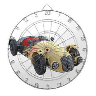Flame Colored Sports Racer Dart Board