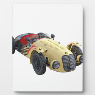 Flame Colored Sports Racer Plaque