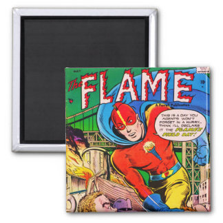 Flame comics 2 inch square magnet