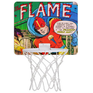 Flame comics mini basketball hoop