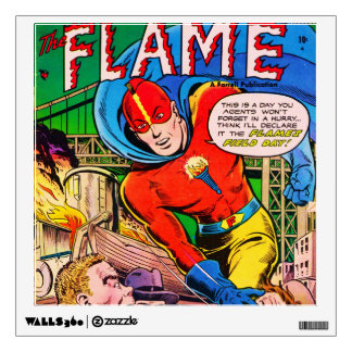 Flame comics wall sticker