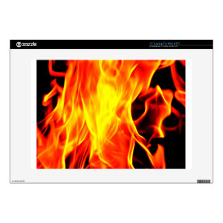 """Flame Decal For 15"""" Laptop"""