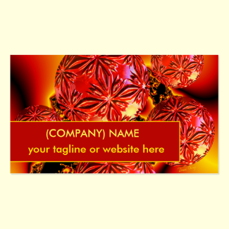 Flame Delights, Abstract Crimson Red Fire Double-Sided Standard Business Cards (Pack Of 100)