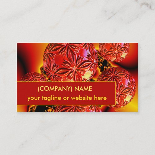 Flame Delights, Abstract Red Orange Fire Business Card