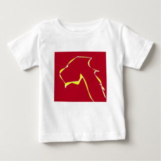 Flame dog art red baby T-Shirt
