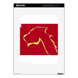 Flame dog art red iPad 3 skin