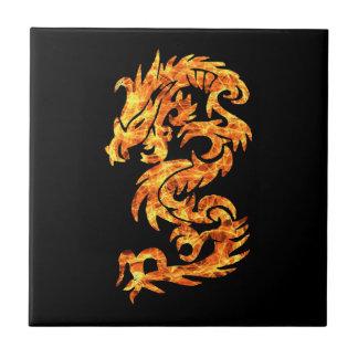 Flame Dragon Ceramic Tile