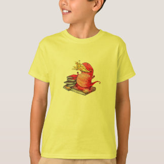 Flame Dragon loves to read Kids T-Shirt
