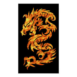 Flame Dragon Posters