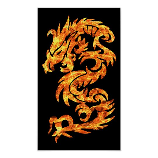 Flame Dragon Poster