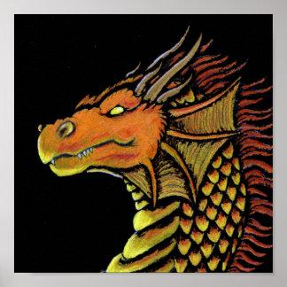 Flame Dragon Print