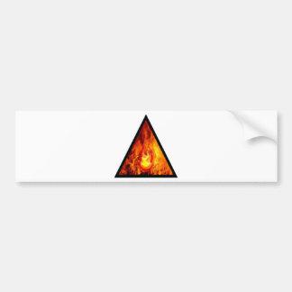 Flame energy bumper sticker