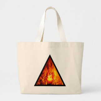Flame energy large tote bag