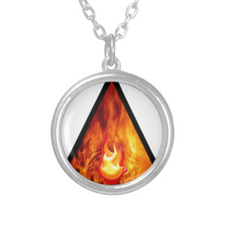 Flame energy silver plated necklace