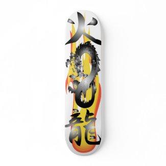 Flame Fire Dragon 3D remix Skateboards skateboard