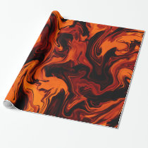 Flame, Fire, Fiery Abstract Wrapping Paper