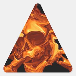Flame fire skull triangle sticker