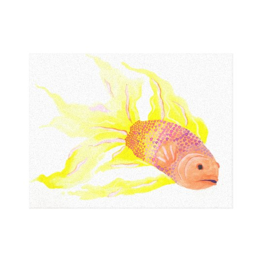 Flame Fish Canvas Print