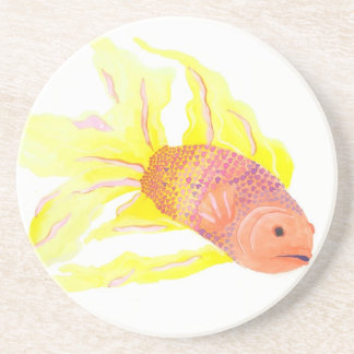 Flame Fish Drink Coaster