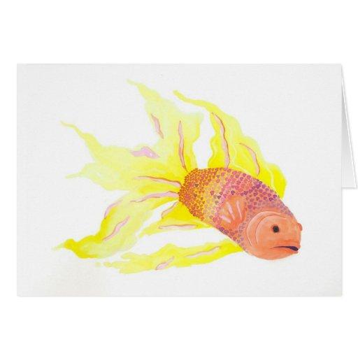 Flame Fish Greeting Card