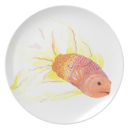 Flame Fish Plates
