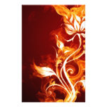 Flame flower 01 stationery design
