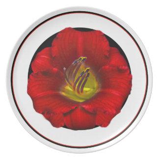 Flame Flower Depth Black Base Plate