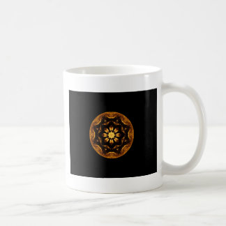 Flame Flower Star Ship Wheel Kaleidoscope Coffee Mug