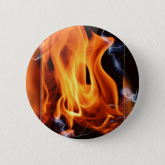 Flame-focus Pinback Button