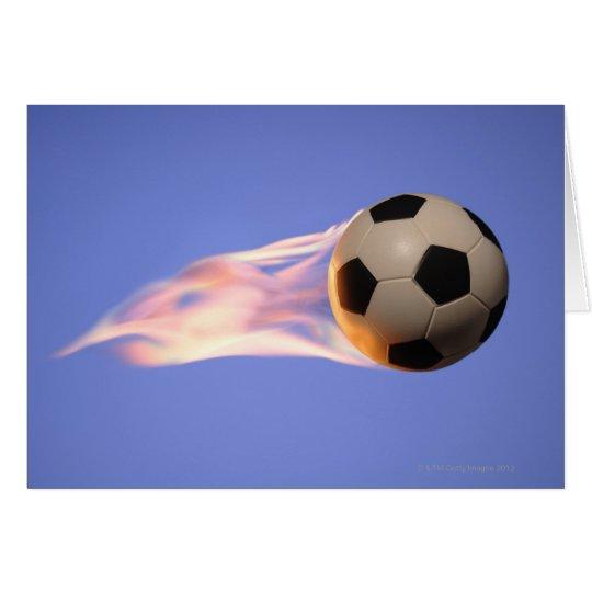 Flame Football Card