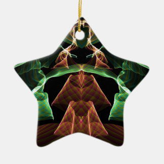 Flame Fractal 3 Ceramic Ornament